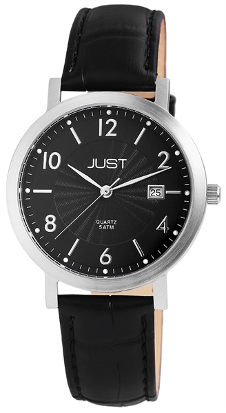 Just JU056 Analog Herrenuhr mit Echtlederband - UVP 39,95 €