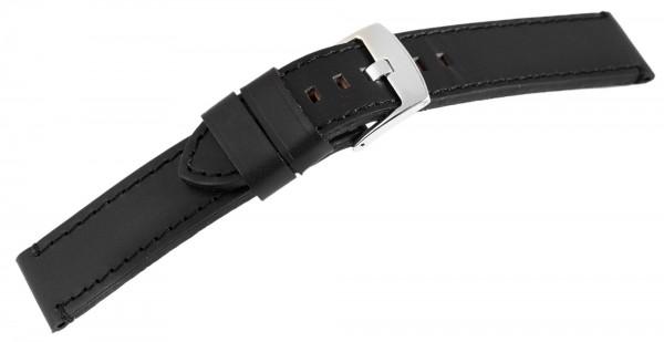 Echt Leder Armband, XL, schwarz mit schwarzer Naht, UVP 19,95 €