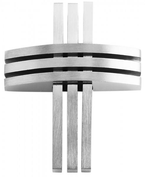 Akzent Edelstahlanhänger in , Breite: 27 mm / Höhe: 33 mm