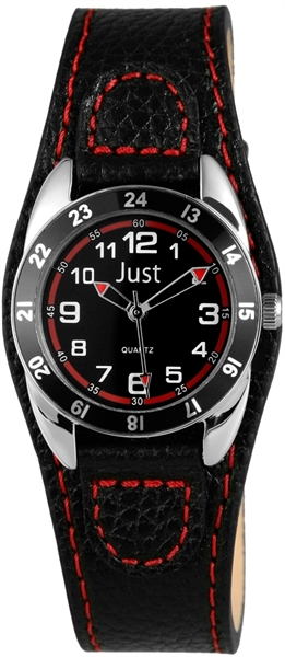Just JU317 Analog Kinderuhr mit Lederimitatband - UVP 29,95 €