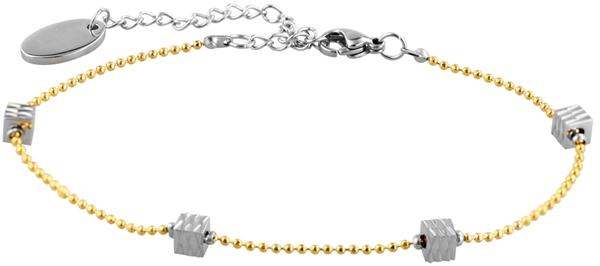 Just Schmuckarmband aus Edelstahl mit IP Gold-Beschichtung l UVP 16,90 €