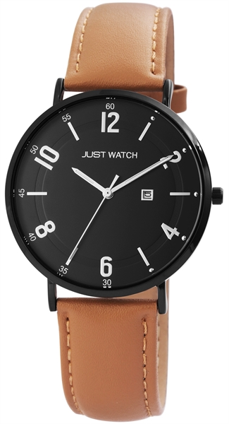 Just Watch Analog Herrenuhr mit Echtlederband - UVP 49,95€