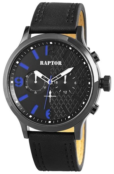 Raptor 2978-0027 Analog Herrenuhr mit Oberseite Echtlederband - UVP 39,95 €