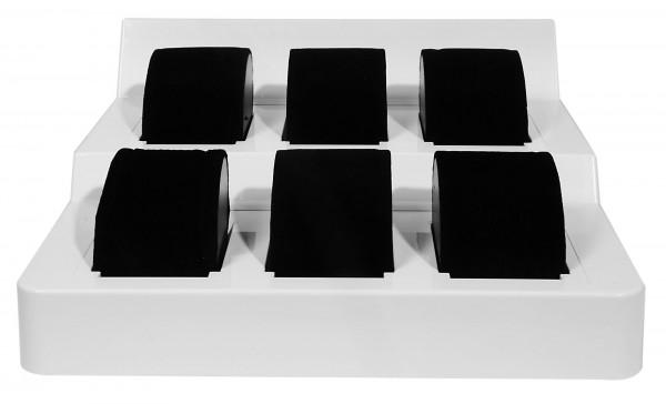 Display für 6 Uhren in weiß