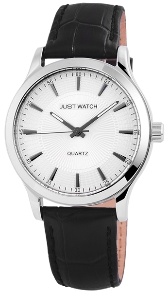 Just Watch JW074 Analog Herrenuhr mit Echtlederband - UVP 39,95 €