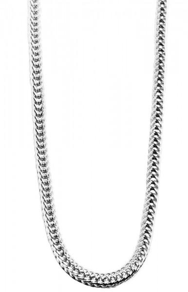 Akzent Edelstahl Damen Zopfkette, Länge: 50 cm / Stärke: 3 mm