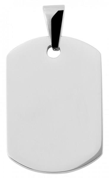 Edelstahlanhänger, 22mm x 32mm x 2mm