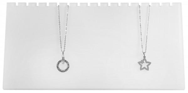 Display Ketten, weiß, Maße: 25,5 x 12,5 x 5,5 cm