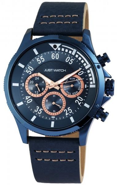 Just Watch JW010 Analog Herrenuhr mit Echtlederband - UVP 79,95 €