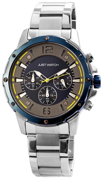 Just Watch JW0017 Chronograph Herrenuhr mit Edelstahlband - UVP 79,95 €