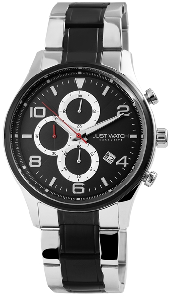 JUST WATCH EXCLUSIVE JWE002 Chronograph Herrenuhr mit Edelstahlband - UVP 89,95€