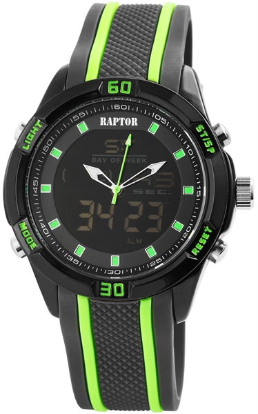 Raptor Analog-Digital mit Silikonarmband - UVP 49,95€