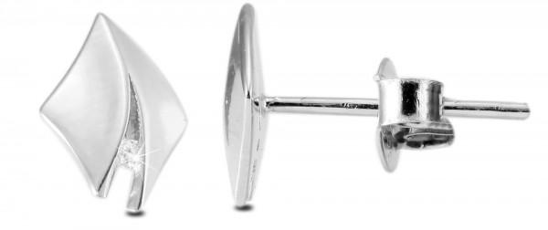 Echt Silber Ohrstecker, 925/, 0,9 gr., rhodiniert