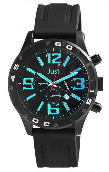 Just JU203 Chronograph Herrenuhr mit Silikonband - UVP 79,95 €