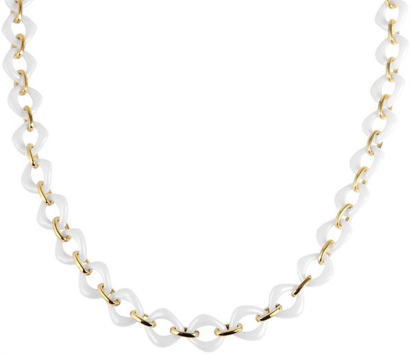 Just Halskette aus Keramik und Edelstahl mit IP Gold-Beschichtung l UVP 99,90 €