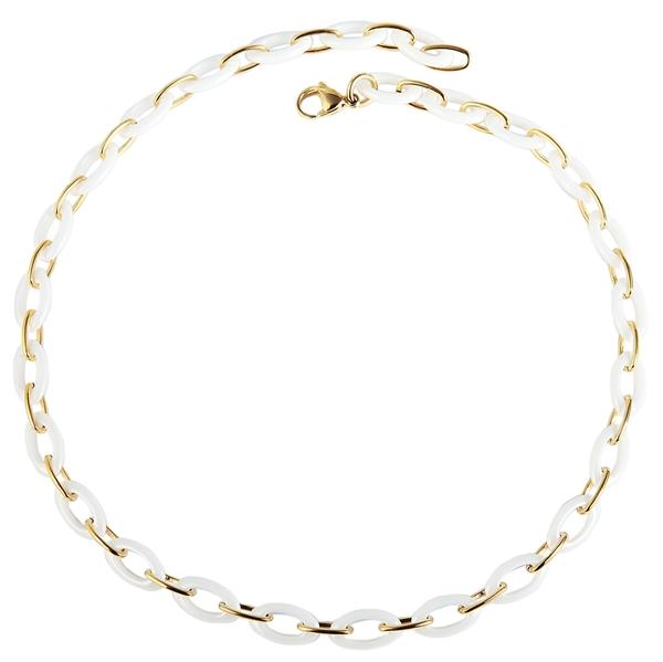 Just Halskette aus Keramik und Edelstahl mit IP Gold-Beschichtung l UVP 89,90 €