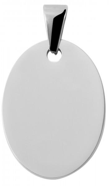 Edelstahlanhänger, 22mm x 30mm x 2mm