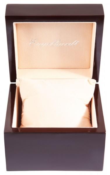 Engelhardt Holzbox, Maße: 11,1 x 12,2 x 9,2 cm, Coffee