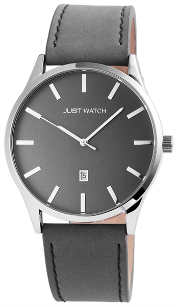 Just Watch JW100 Analog Herrenuhr mit Echtlederband - UVP 49,95 €