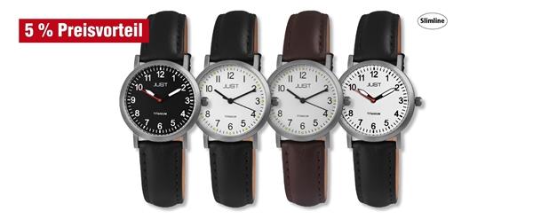 Just Damen Titan Uhren Echtlederband im 4er-Set, 5% Preisvorteil
