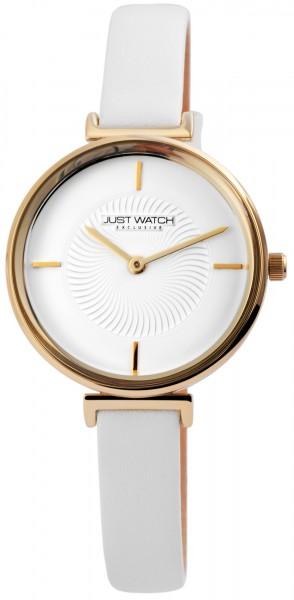 JUST WATCH EXCLUSIVE JWE003 Analog Damenuhr mit Echtlederband - UVP 49,95€