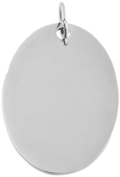 Akzent Edelstahlanhänger in , Breite: 25 mm / Höhe: 35 mm