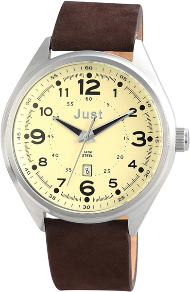 Just 48-S1231 Analog Herrenuhr mit Echtlederband - UVP 69,90 €