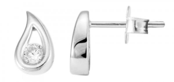 925 Silber Ohrstecker, 925/, 1,0 gr., rhodiniert