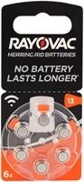 RAYOVAC Hörgeräte Batterie, 6 Stk. Blister H13
