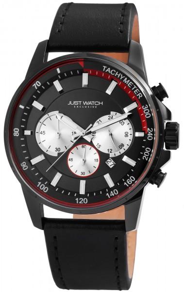JUST WATCH EXCLUSIVE JW114 Chronograph Herrenuhr mit Echtlederband - UVP 89,95€