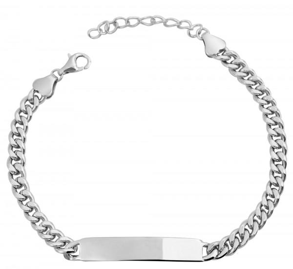 925 Silber Armband , 14+3cm, 925/ rhodiniert, 6g