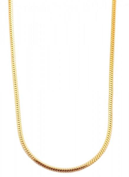 Akzent Edelstahl Damen Schlangenkette, Länge: 50 cm / Stärke: 2 mm