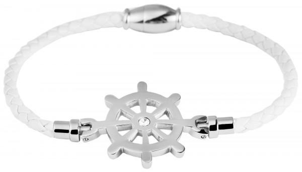 Geflochtenes Armband aus Echtleder und Edelstahl