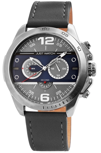 Just Watch JW0015 Chronograph Herrenuhr mit Echtlederband - UVP 79,95 €