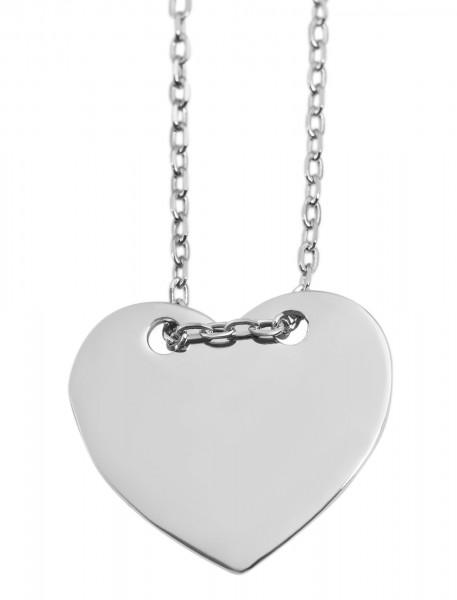 925 Silber Halskette, 43+5cm, 925/rhodiniert, 2,4g