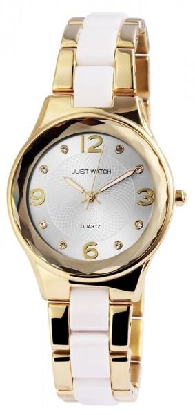 Just Watch JW041 Analog Damenuhr mit Keramik-Edelstahlband - UVP 59,95 €