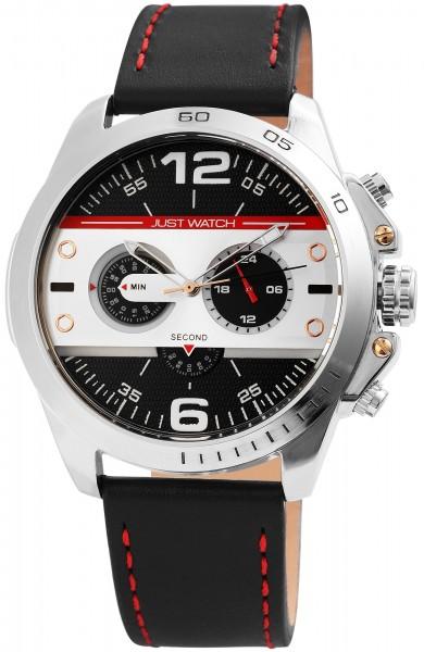 Just Watch JW0015 Chronograph Herrenuhr mit Echtlederband - UVP 79,95 €