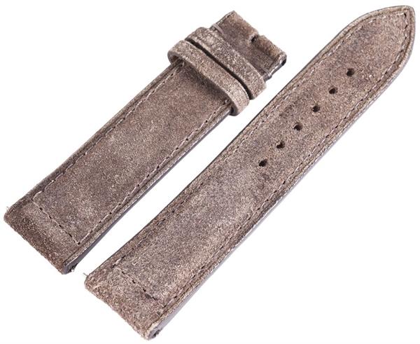 Carucci Basic Echtleder Armband in grau, gebürstet, gepolstert, 22 mm