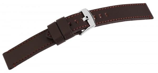 Echt Leder Armband, XL, dunkelbraun mit brauner Naht, UVP 19,95 €