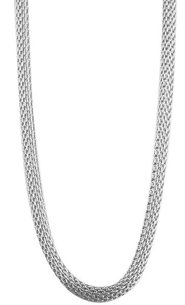 Akzent Edelstahl Damen Schlangenkette, Länge: 70 cm / Stärke: 3 mm