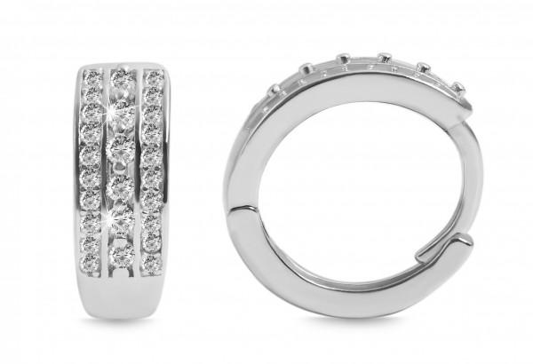 925 Silber Ohrring, 925/rhodiniert, 2,6g