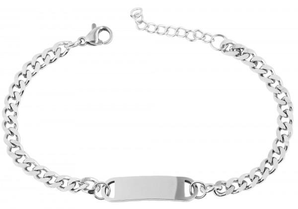 Edelatahl Armband , 17 + 3 cm