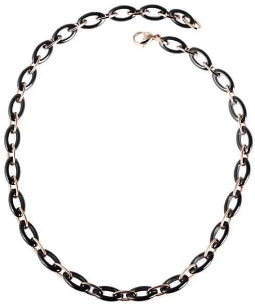 Just Halskette aus Keramik und Edelstahl mit IP Roségold-Beschichtung l UVP 89,90 €