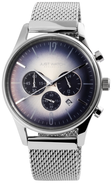 JUST WATCH EXCLUSIVE JWE001 Chronograph Herrenuhr mit Edelstahlband - UVP 89,95€