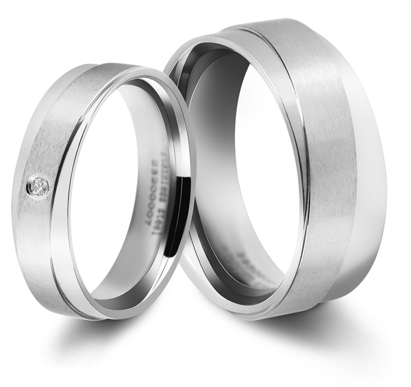 Akzent Partnerringe-Ring aus Edelstahl
