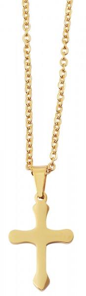 Akzent Edelstahl Unisex Halskette, Länge: 40 cm / Stärke: 1 mm
