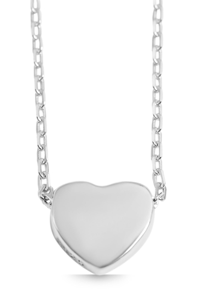 925 Silber Halskette, 43+5cm, 925/rhodiniert, 2g