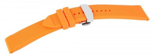 Kautschuck Armband, orange, Faltschließe,