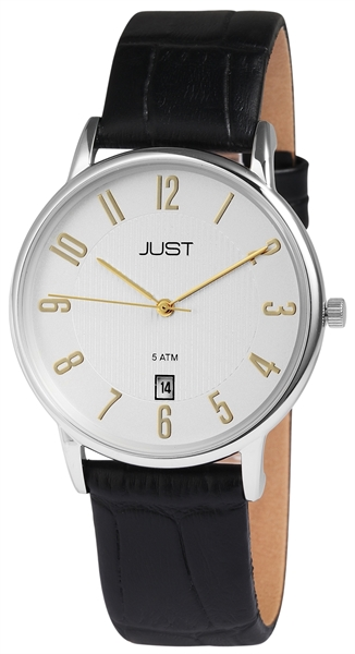 Just JU005 Analog Herrenuhr mit Echtlederband - UVP 69,95 €