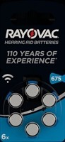 RAYOVAC Hörgeräte Batterie, 6 Stk. Blister H675